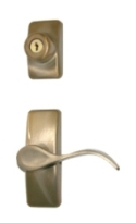 Antique Brass Contemporary Curve Hardware