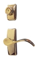 Bright Brass Contemporary Curve Hardware